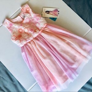 NWT Jona Michelle Toddler Girls Pink Floral Dress
